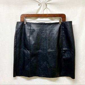 H&M - Black Faux Leather Mini Skirt
